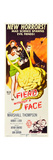 FIEND WITHOUT A FACE, Kim Parker (in towel), far right: Marshall Thompson on insert poster, 1958. Poster