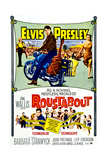 ROUSTABOUT, from left, Barbara Stanwyck, Elvis Presley, Joan Freeman, 1964 Posters