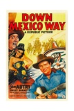 DOWN MEXICO WAY, from left: Smiley Burnette, Fay McKenzie, Gene Autry, 1941. Poster