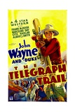 THE TELEGRAPH TRAIL, John Wayne (climbing telegraph pole), 1933 Prints