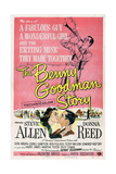 THE BENNY GOODMAN STORY, US poster, bottom center left: Donna Reed, Steve Allen, 1956 Prints