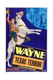 TEXAS TERROR, left: John Wayne, top right left: Lucille Browne, top far right: John Wayne, 1935. Prints