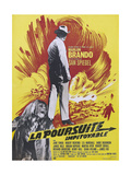 THE CHASE, (aka LA POURSUITE IMPITOYABLE), French poster, Marlon Brando, Jane Fonda, 1966 Art