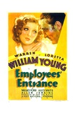 EMPLOYEES' ENTRANCE, from left: Loretta Young, Warren William, 1933. Posters