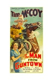 THE MAN FROM GUNTOWN, from top: Tim McCoy, Billie Seward, 1935. Art