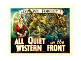 ALL QUIET ON THE WESTERN FRONT, poster art, 1930. Posters