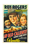 IN OLD CALIENTE, George 'Gabby' Hayes, Roy Rogers, Mary Hart, 1939 Poster
