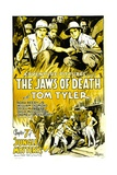 JUNGLE MYSTERIES, top left: Tom Tyler in 'Chapter 7: The Jaws of Death', 1932. Posters