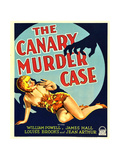 THE CANARY MURDER CASE, Louise Brooks on window card, 1929 Print