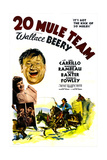 20 MULE TEAM,  right top: Wallace Beery, Anne Baxter, Marjorie Rambeau (with broom), 1940 Reprodukcje