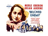 BELOVED ENEMY, left: Merle Oberon, bottom left: Brian Aherne, 1936. Prints