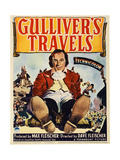 GULLIVER'S TRAVELS, midget window card, 1939 Art