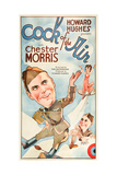COCK OF THE AIR, Chester Morris on US poster art, 1932. Prints