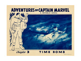 THE ADVENTURES OF CAPTAIN MARVEL, Tom Tyler in 'Chapter 3: Time Bomb', lobbycard, 1941. Prints