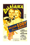 BALALAIKA, US poster art, top from left: Nelson Eddy, Ilona Massey, 1939 Posters