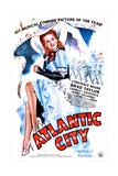 ATLANTIC CITY (aka ATLANTIC CITY HONEYMOON), US poster, Constance Moore, 1944 - Reprodüksiyon