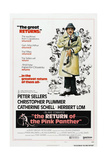 THE RETURN OF THE PINK PANTHER, US poster, Peter Sellers, 1975 Posters
