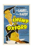 A CHUMP AT OXFORD, from top: Stan Laurel, Oliver Hardy, 1940 Prints