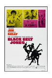 BLACK BELT JONES, US poster, from upper left: Jim Kelly, Gloria Hendry, 1974 Kunstdrucke