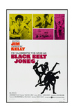 BLACK BELT JONES, US poster, from upper left: Jim Kelly, Gloria Hendry, 1974 Prints