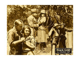 BLACK GOLD, bottom left: center from left: Laurence Criner, Kathryn Boyd,  on lobbycard, 1928. Prints