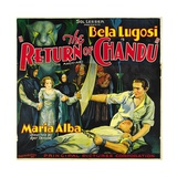 THE RETURN OF CHANDU, left center: Maria Alba, far right: Bela Lugosi, 1934. Posters
