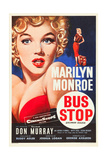 BUS STOP, Marilyn Monroe on US poster art, 1956. Posters