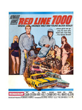 RED LINE 7000, James Caan 9second from left), Skip Ward (helmet), Mariana Hill (hand on hip), 1965 Print