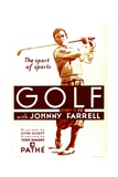 GOLF, Johnny Farrell, 1930. Affiches