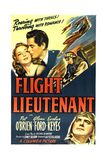 FLIGHT LIEUTENANT, top from left: Evelyn Keyes, Glenn Ford, bottom right: Pat O'Brien, 1942 Poster
