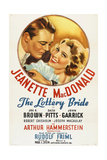 THE LOTTERY BRIDE, US re-release poster art, from left: John Garrick, Jeanette MacDonald, 1930 Prints