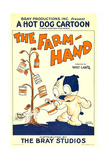 THE FARM HAND, (aka 'THE FARMHAND'), cartoon poster art, 1927. Print