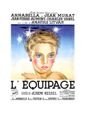 FLIGHT INTO DARKNESS, (aka L'EQUIPAGE), French poster art, Annabella, 1935 Print
