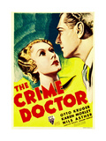 THE CRIME DOCTOR, from left: Karen Morley, Otto Kruger on midget window card, 1934. Poster