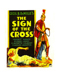 SIGN OF THE CROSS, Elissa Landi, Fredric March on window card, 1932 Posters