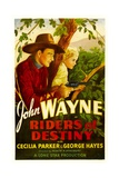 RIDERS OF DESTINY, John Wayne, Cecilia Parker, 1933 Prints