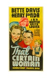 THAT CERTAIN WOMAN, from left: Bette Davis, Anita Louise, Henry Fonda, Dwayne Day, 1937 Posters