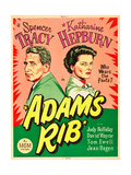 ADAM'S RIB, l-r: Spencer Tracy, Katharine Hepburn on US poster art, 1949. Lámina