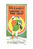 SOMETHING TO THINK ABOUT, poster art, 1920. Art