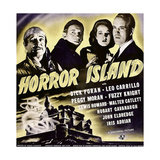 HORROR ISLAND, from left: Leo Carrillo, Fuzzy Knight, Peggy Moran, Dick Foran on window card, 1941 Posters