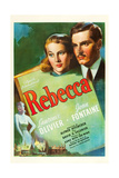 REBECCA, Joan Fontaine, Laurence Olivier, 1940 Prints