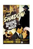 BEHIND THE MASK, US poster, (aka THE SHADOW BEHIND THE MASK), Kane Richmond, Barbara Reed, 1946 Print
