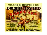 NOAH'S ARK, Half-Sheet poster, foreground center: George O'Brien carrying Dolores Costello, 1928. Print