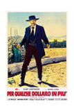 FOR A FEW DOLLARS MORE (aka PER QUALCHE DOLLARO IN PIU), Lee Van Cleef on Italian poster art, 1965. Prints