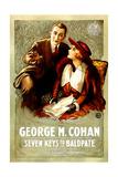 SEVEN KEYS TO BALDPATE, l-r: George M. Cohan, Anna Q. Nilsson, 1917 Prints