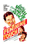 THE FEMININE TOUCH, US poster, Don Ameche, Rosalind Russell, Kay Francis, 1941 Prints