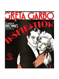 INSPIRATION, from left: Robert Montgomery, Greta Garbo on window card, 1931 Posters