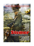 CROSS OF IRON, (aka STEINER DAS EISERNE KREUZ), German Poster, James Coburn, 1977 Prints