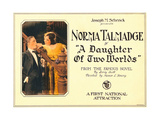 A DAUGHTER OF TWO WORLDS, right: Norma Talmadge on lobbycard, 1920. Posters