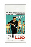 DR. NO, Sean Connery, South African poster, 1962 Kunst